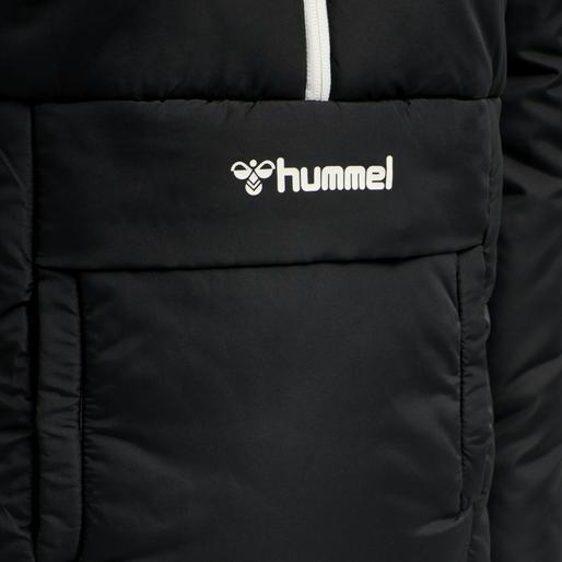 hmlGILL HALF ZIP JACKET, BLACK, packshot