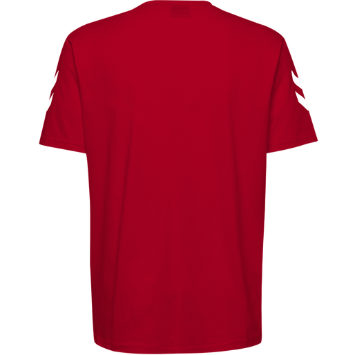 HUMMEL GO COTTON T-SHIRT S/S, TRUE RED, packshot