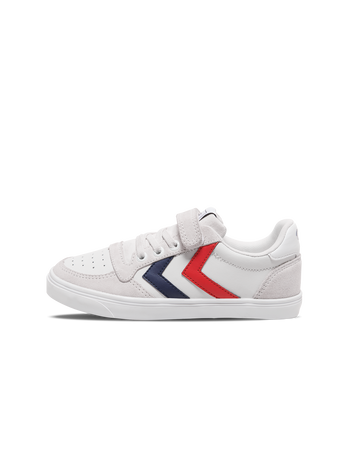 SLIMMER STADIL LEATHER LOW JR, WHITE, packshot