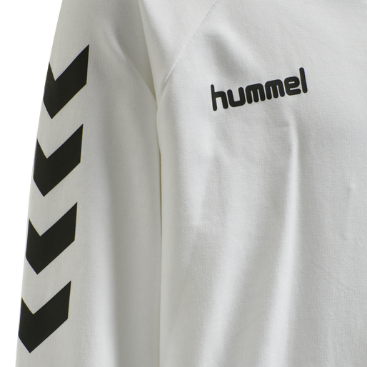 HUMMEL GO KIDS COTTON ZIP HOODIE, WHITE, packshot