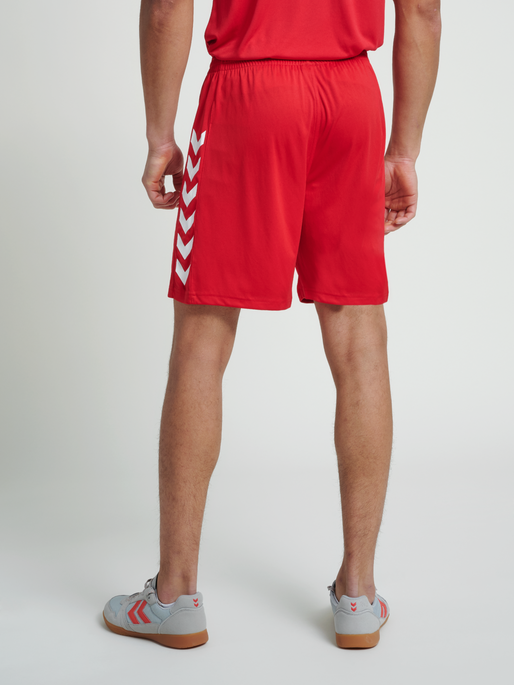 CORE POLY SHORTS, TRUE RED PRO, model