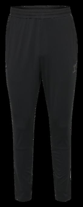 hmlASTON TAPERED PANTS, BLACK, packshot