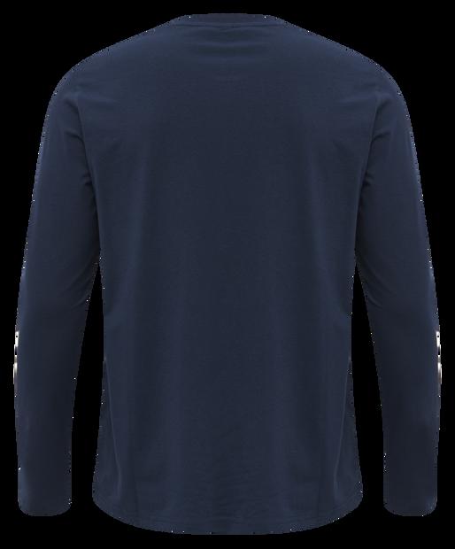 hmlSIGGE T-SHIRT L/S, BLACK IRIS, packshot