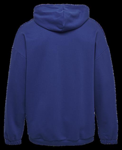 hmlHYGGE LOOSE HOODIE, MAZARINE BLUE, packshot