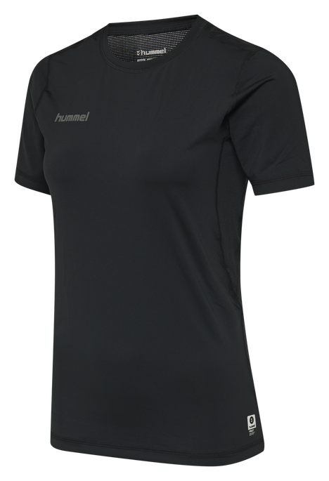HUMMEL FIRST PERFORMANCE WOMEN JERSEY S/S, BLACK, packshot