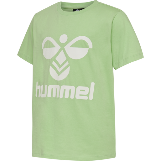 hmlTRES TEE SHIRT S/S, GREEN ASH, packshot