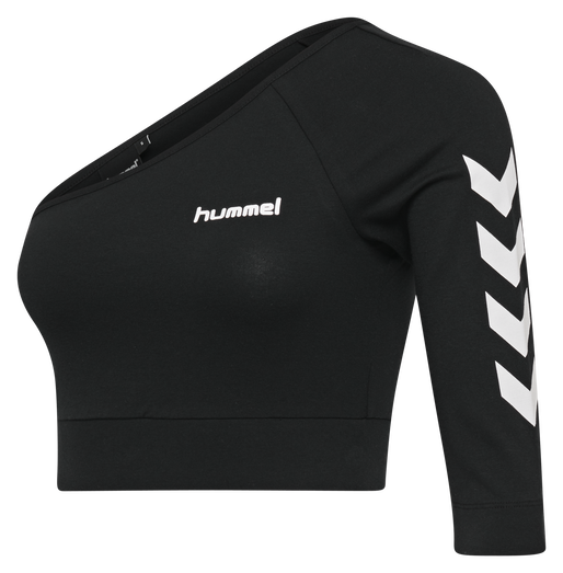 hmlVINNI CROPPED TOP, BLACK, packshot