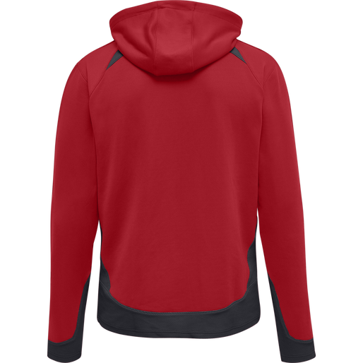 hmlLEAD ZIP POLY HOODIE, TRUE RED, packshot
