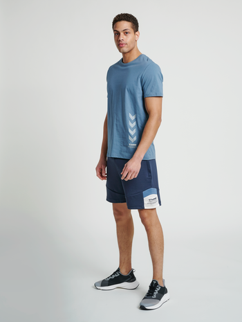 hmlDUNCAN T-SHIRT, CHINA BLUE, model