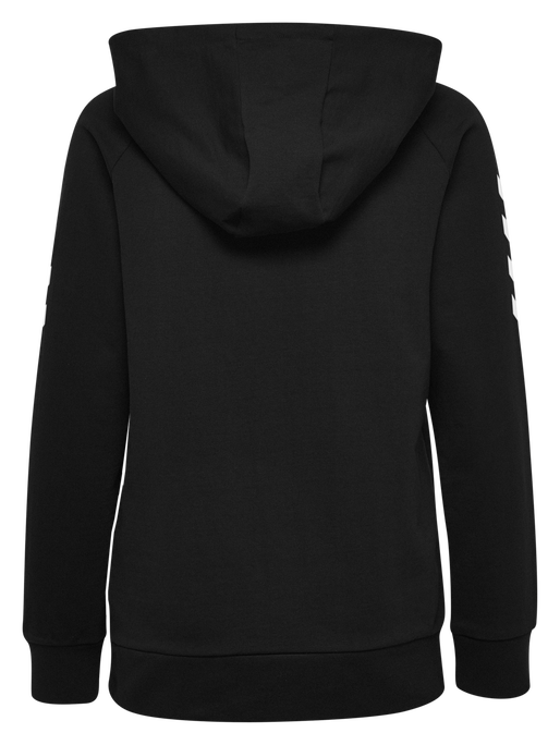 HUMMEL GO COTTON ZIP HOODIE WOMAN, BLACK, packshot