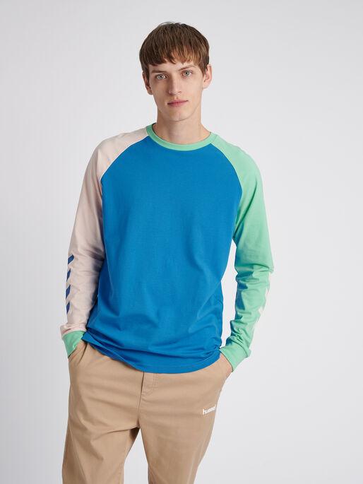 hmlKROVEJ T-SHIRT L/S, BLUE ASTER, model