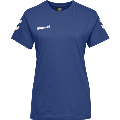 HUMMEL GO COTTON T-SHIRT WOMAN S/S, TRUE BLUE, packshot