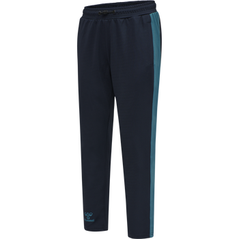 hmlACTION TRAINING PANTS KIDS, DARK SAPPHIRE/BLUE CORAL, packshot