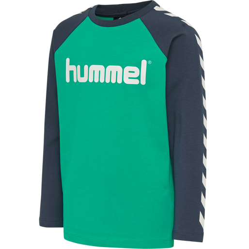hmlBOYS T-SHIRT LS, DEEP GREEN, packshot