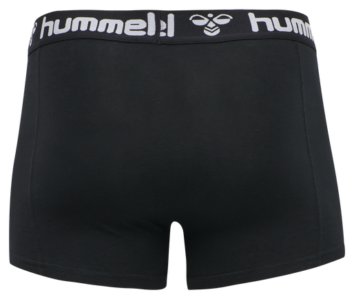HMLMARS 2PACK BOXERS, BLACK/DARK GREY MELANGE, packshot