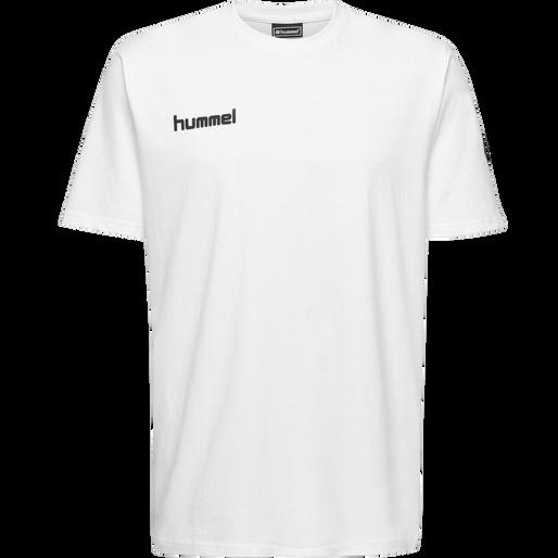 HUMMEL GO KIDS COTTON T-SHIRT S/S, WHITE, packshot