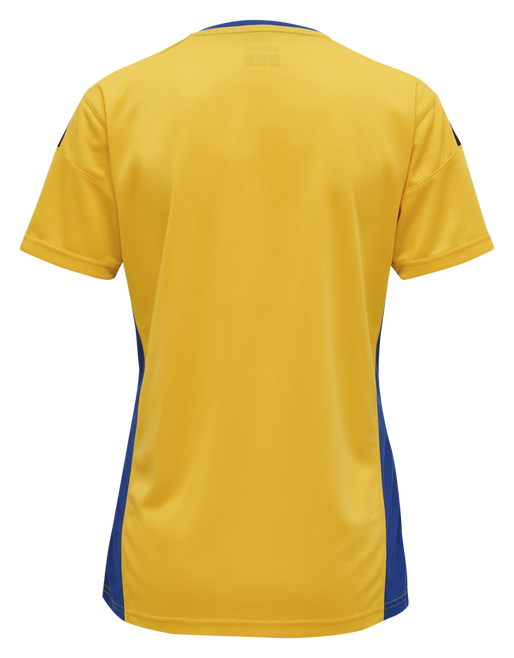 hmlAUTHENTIC POLY JERSEY WOMAN S/S, SPORTS YELLOW/TRUE BLUE, packshot