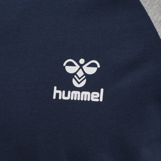 hmlMARK T-SHIRT S/S, BLACK IRIS, packshot