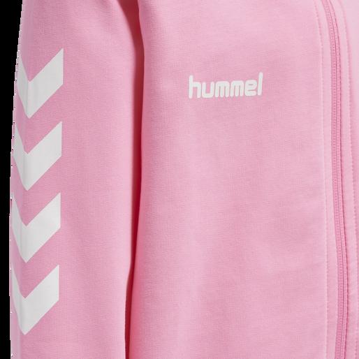 HUMMEL GO KIDS COTTON ZIP HOODIE, COTTON CANDY, packshot