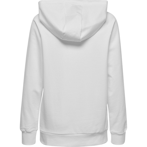 HUMMEL GO COTTON ZIP HOODIE WOMAN, WHITE, packshot