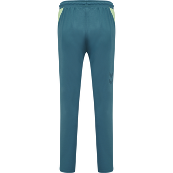 hmlACTION TRAINING PANTS WOMAN, BLUE CORAL/GREEN ASH, packshot
