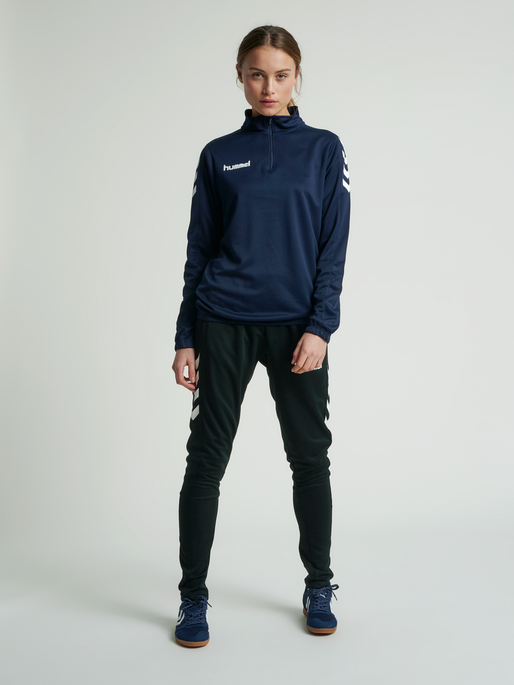 CORE HALF ZIP SWEAT WOMAN, MARINE, model