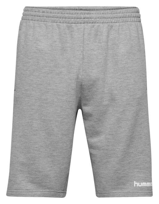 HUMMEL GO COTTON BERMUDA SHORTS, GREY MELANGE, packshot