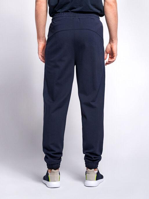 hmlLAURI REGULAR PANTS, BLACK IRIS, model
