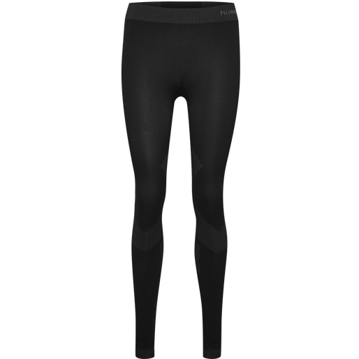 HUMMEL FIRST SEAMLESS TIGHTS WOMEN , BLACK, packshot