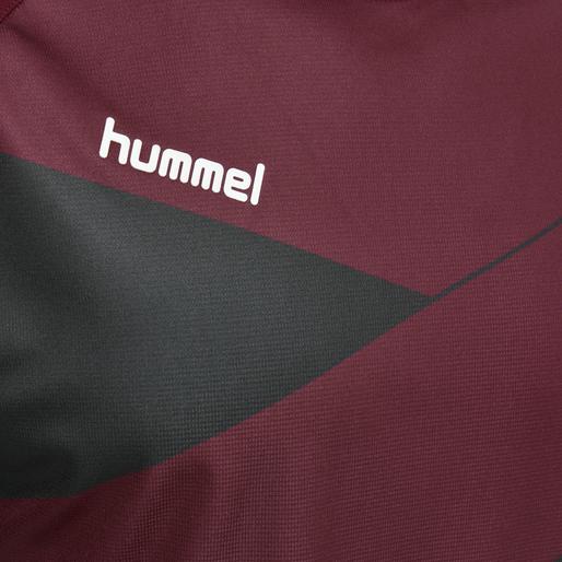 HUMMEL COURT JERSEY S/S, RUMBA RED/VULCAN, packshot