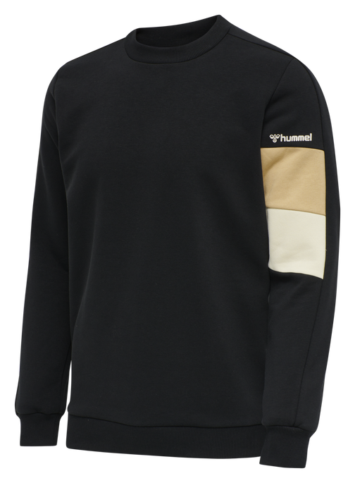 hmlAIDAN SWEATSHIRT, BLACK, packshot