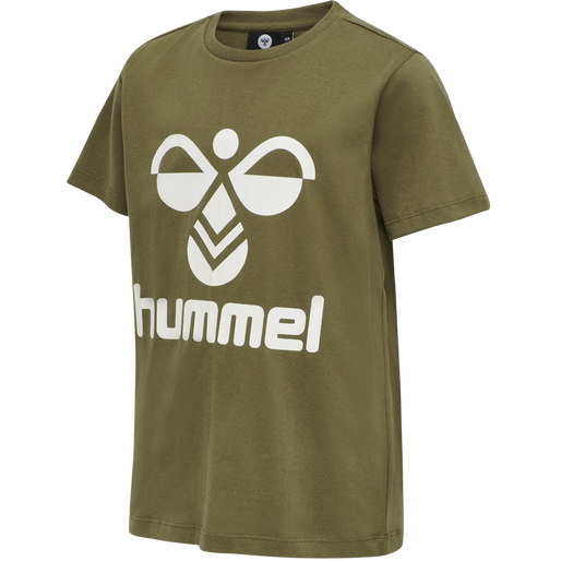hmlTRES TEE SHIRT S/S, MILITARY OLIVE, packshot