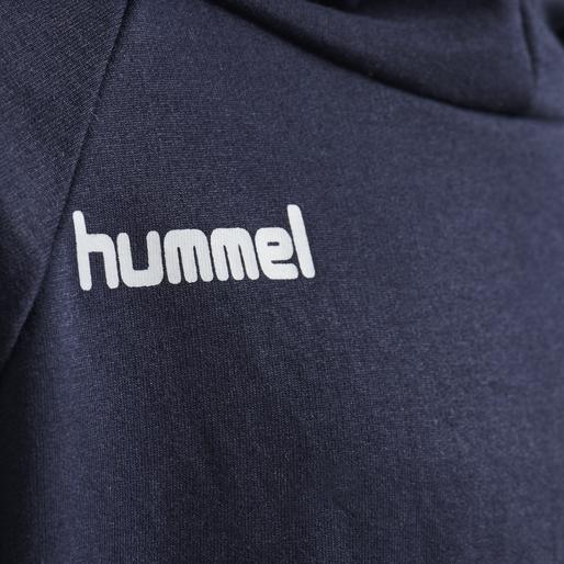 HUMMEL GO KIDS COTTON HOODIE, MARINE, packshot