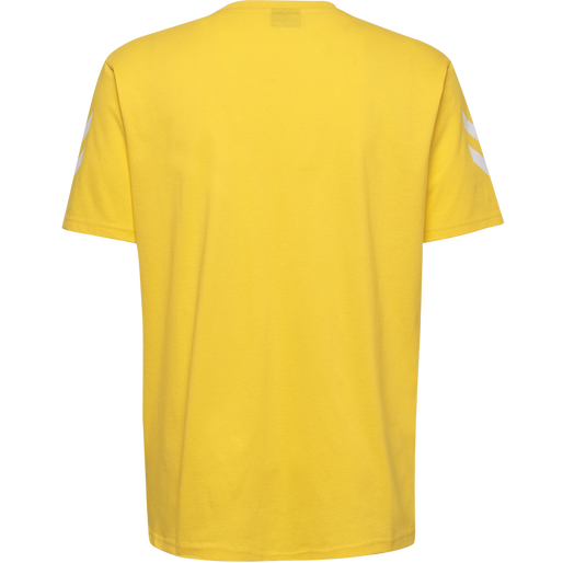 HUMMEL GO COTTON T-SHIRT S/S, SPORTS YELLOW, packshot