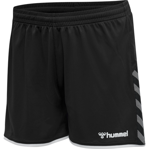 hmlAUTHENTIC POLY SHORTS WOMAN, BLACK/WHITE, packshot