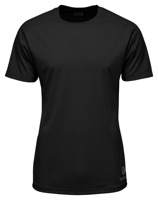 RUNNER SS TEE, BLACK, packshot