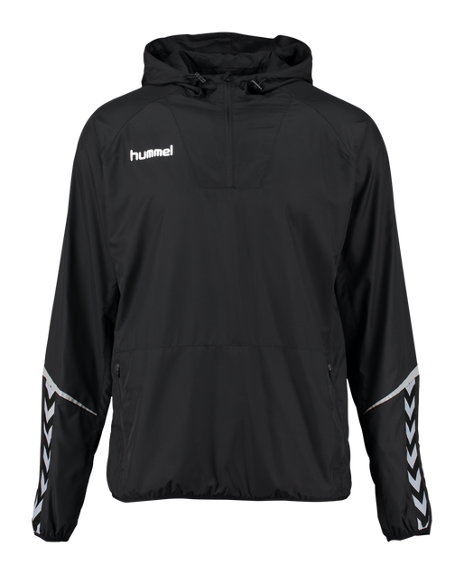 AUTHENTIC CHARGE LIGHT WEIGHT WINDBREAKER, BLACK/BLACK, packshot