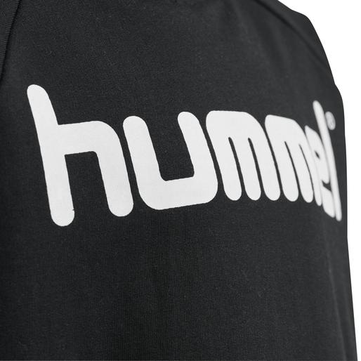 HUMMEL GO KIDS COTTON LOGO HOODIE, BLACK, packshot