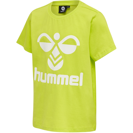 hmlTRES TEE SHIRT S/S, LIME PUNCH, packshot