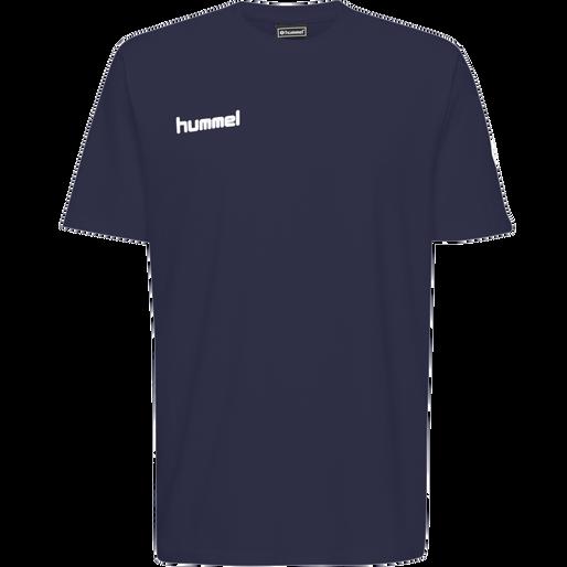 HUMMEL GO KIDS COTTON T-SHIRT S/S, MARINE, packshot