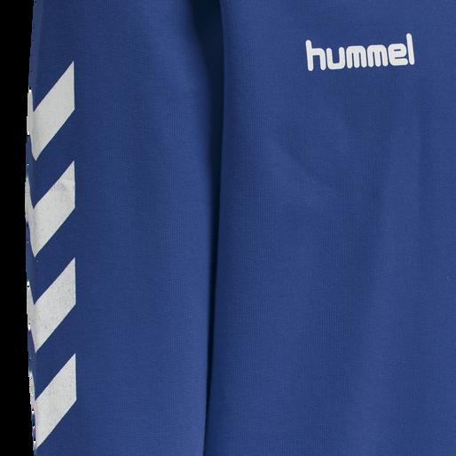 HUMMEL GO KIDS COTTON HOODIE, TRUE BLUE, packshot