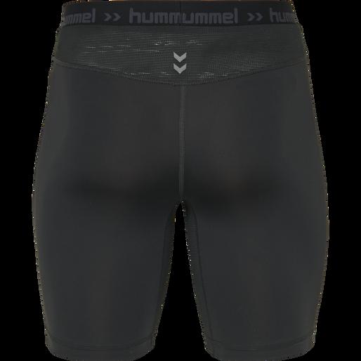 HUMMEL FIRST PERFORMANCE TIGHT SHORTS, BLACK, packshot