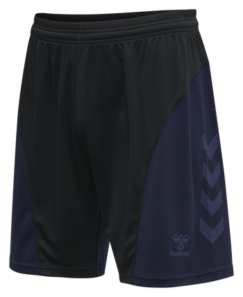 hmlACTION SHORTS, BLACK/MARINE, packshot
