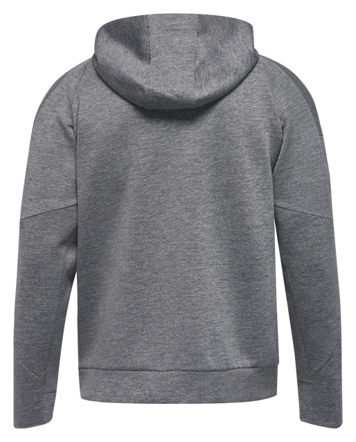 TECH MOVE ZIP HOOD, GREY MELANGE, packshot