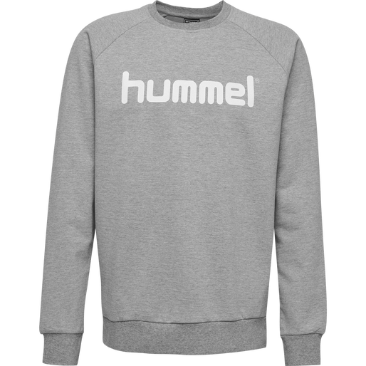 HUMMEL GO KIDS COTTON LOGO SWEATSHIRT, GREY MELANGE, packshot