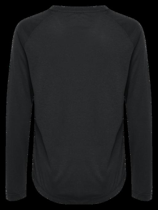 hmlVANJA T-SHIRT L/S, BLACK, packshot