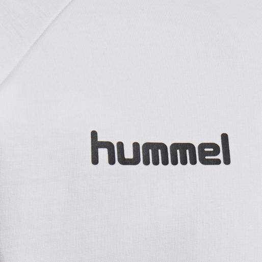 HUMMEL GO COTTON ZIP HOODIE, WHITE, packshot