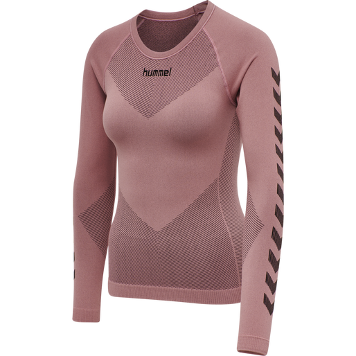 HUMMEL FIRST SEAMLESS JERSEY L/S WOMAN, DUSTY ROSE, packshot