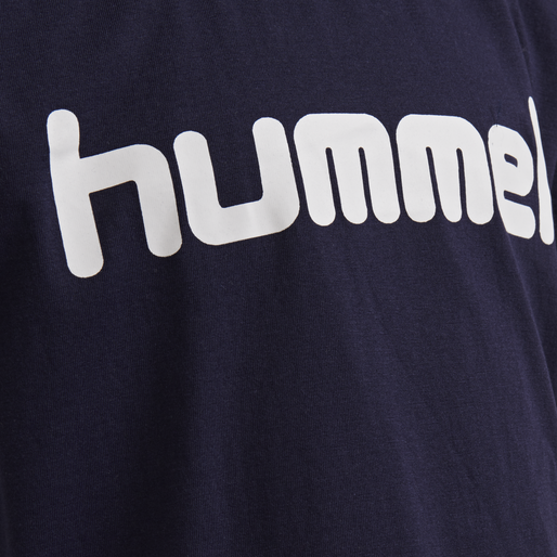 HUMMEL GO KIDS COTTON LOGO T-SHIRT S/S, MARINE, packshot