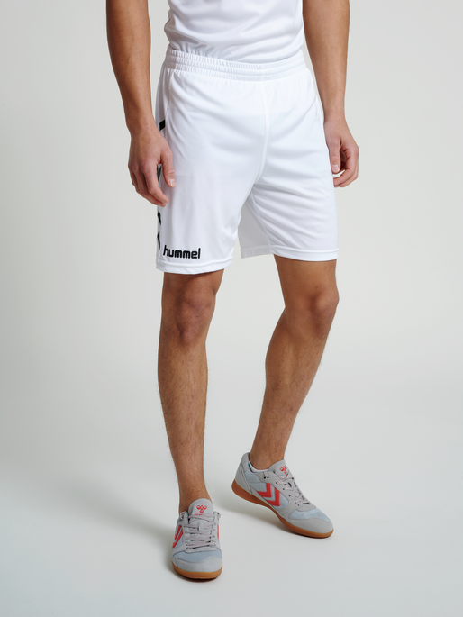 CORE POLY SHORTS, WHITE PR, model